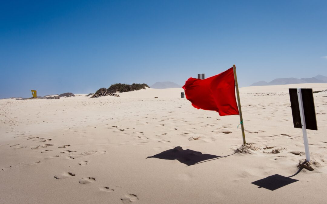 waving red flag