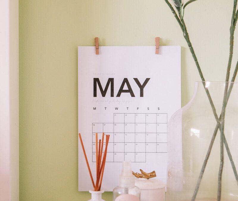 white May calendar